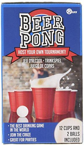 Regalos 50fifty Beer Pong juego con las tazas rojas