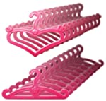 Doll Hangers, Set of 20 Pink Plastic...