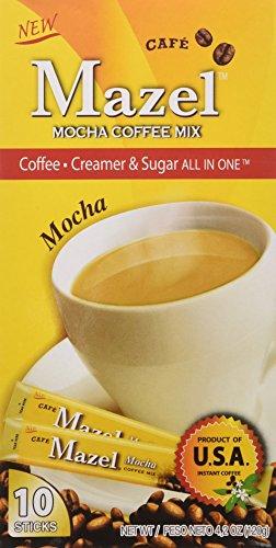 Mazel Café Mocha Coffee Mix Singles (10 Packets each) FOUR BOXES