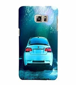 Fuson 3D Printed Car Designer back case cover for Samsung Galaxy S6 Edge Plus - D4500