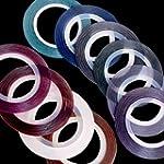 10 Rolls Nail Art UV Gel Tips Stripin...