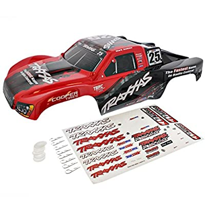 Traxxas Slash 2WD On-Board Audio * RED & BLACK MARK JENKINS #25 BODY & DECALS *