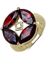 Suraabi 7.68CTW Red Cubic Zirconia 14K Yellow Gold Plated Brass Ring For Women