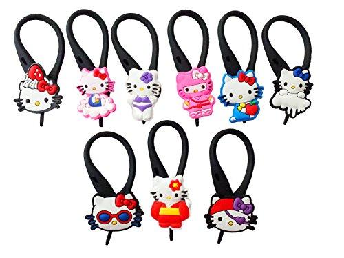 9 pezzi Hello Kitty # 5 Soft Zipper Pull Pendaglio di Zaino di Giacca