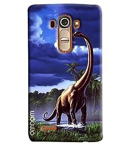Omnam Dinasours Printed Designer Back Cover Case For LG G4