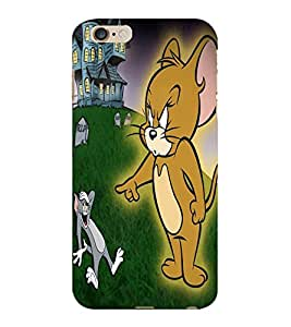 ColourCraft Funny Cat and Rat Design Back Case Cover for APPLE IPHONE 6 PLUS