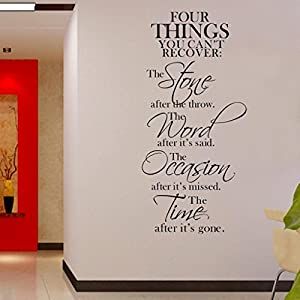 WALL'S MATTER Removable Vinyl Wall Sticker Guided Words Home Decor Wall Quotes Decal Art DIY
