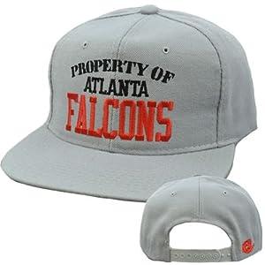 NFL Atlanta Falcons Vintage Retro Deadstock Snapback Gray New Era Pro Hat Cap by New Era