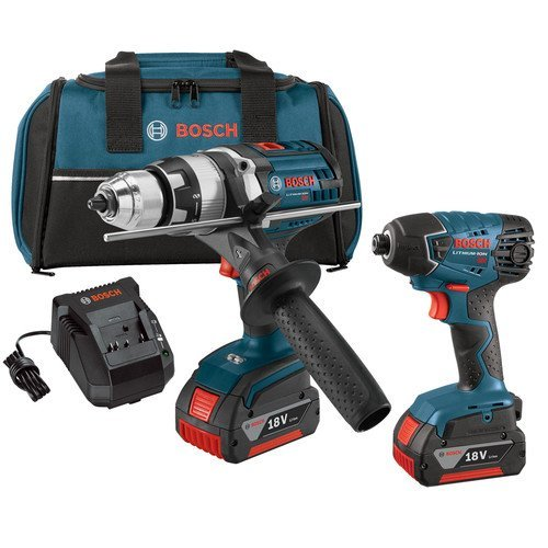 Bosch CLPK222-181 18-volt Lithium-Ion 2-Tool Combo Kit with 1/2-Inch Hammer Drill/Driver and 1/4-Inch Hex Impact Driver (Bosch 20 V Drill compare prices)