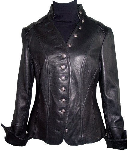 Paccilo FREE tailoring Womens 4003 Real Lambskin Short Leather Jacket