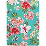 iPad Air 2 Case, Transwon (Ultra Slim Version) Trifold Flip Case Smart Cover with [Stand Function][Floral printPrint][Auto Wake/Sleep Feature] for Apple iPad Air 2 (iPad 6th gen, 9.7 Inch, 2014 Release) - Flower#8