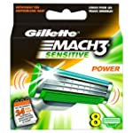 Gillette Lames Mach 3 Power Sensitive...
