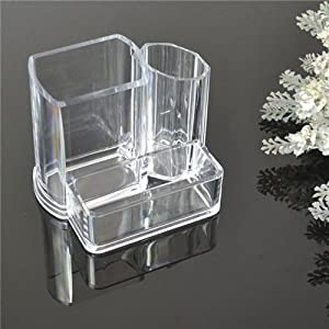 Office supplies stationery desk decor - Acrylic desk organizer set ...