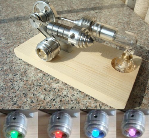 Sunnytech®hot Air Stirling Engine Single Flywheel Education Toy Electricity Power Generator M14-03-s (Solar Engine compare prices)