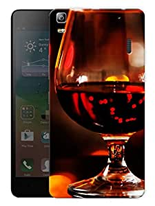 "Humor Gang Wine Glass Short Printed Designer Mobile Back Cover For ""Lenovo A7000 - Lenovo A7000 Plus - Lenovo A7000 Turbo - Lenovo K3 Note"" (3D, Matte, Premium Quality Snap On Case)"