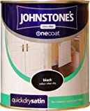 Johnstones No Ordinary Paint One Coat Quick Dry Water Based Satin Black 750ml