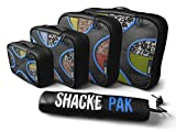 Shacke™ Pak - 4 Set Packing Cubes - Travel Organizers with Laundry Bag
