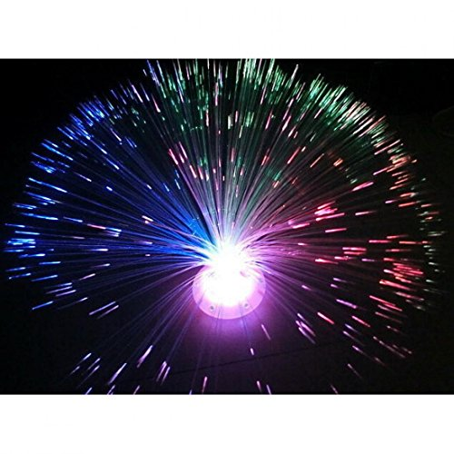 1Pc Worthy Popular 8 Modes LED Nightlight Colorful Party Fiber Optic Home Decor Light Random Stand Color