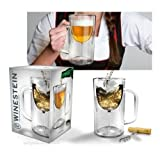 Fred and Friends WINESTEIN Double-Walled Stemware Mug New