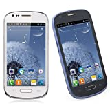 4.0 Inch Screen 3G Smartphone Android 4.0 MTK6577 Dual Core Dual SIM 3MP + 12.0MP Camera WIFI Bluetooth S9920 (Blue, White)