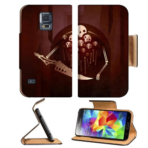 Dark Souls Nito Skulls Skeleton Samsung Galaxy S5 Sm-G900 Flip Cover Case With Card Holder Customized Made To Order Support Ready Premium Deluxe Pu Leather 5 13/16 Inch (148Mm) X 2 1/8 Inch (80Mm) X 5/8 Inch (16Mm) Msd S V S 5 Professional Cases Accessori
