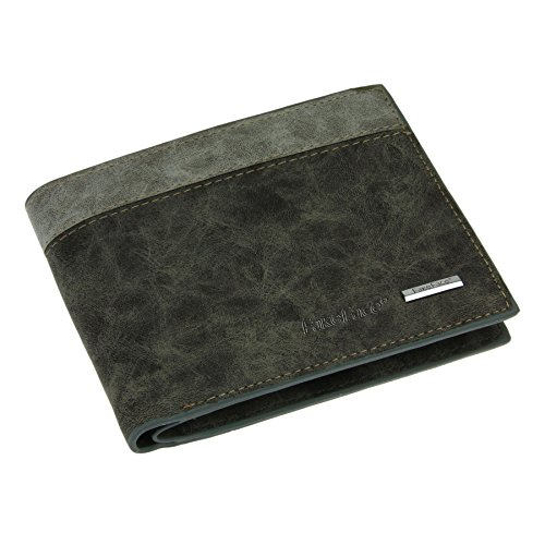 Classic Casual Bi-fold Leather Wallet Multifunction Key Card Cases Holders Package Purse Cash Coin Pouches Money Clip for Men Grey (Key Package compare prices)
