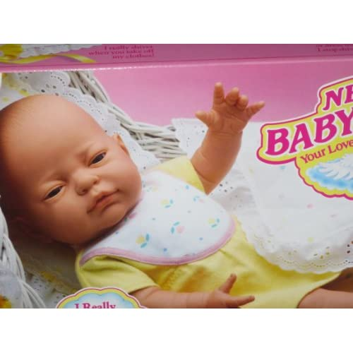 """: Newborn Baby Shivers  Tyco 17"""" Long Baby Doll  New Old Stock"""