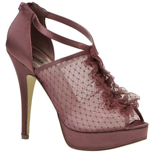 Chinese Laundry Women's Hands Up Peep-Toe Pump,Dark Mauve,8 M US