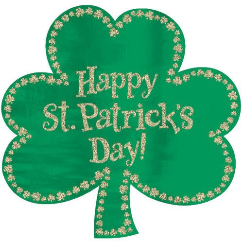 St. Patrick's Day Glitter Cutout 16in