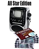 All Star Edition Singing Machine STVG-519 FREE Music (150.00 Value) 10 Various Discs, 12 Song Custom, feat. Walt Disney and More! The 12 Song Custom Card has over 7000 songs to choose from!!! (That's over 130 Songs)