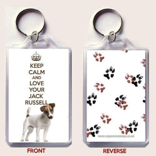 un-portachiavi-con-foto-di-russell-terrier-cane-presa-il-scritta-mantenere-la-calma-e-lamore-tuo-jac