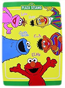 Elmo de Rue de sésame - Grand 6 pi x 4 TAPIS DE SECTEUR de pi - le Plancher de Pièce de Gosses Accentue