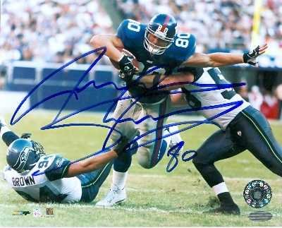 Jeremy Shockey autographed 8x10 photo (New York Giants) (Steiner Sports Hologram) at Amazon.com