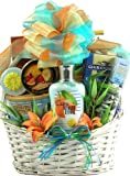Gift Basket Village Easter Scent-Sation Tropical Spa and Gourmet Gift Basket, 7 Pound