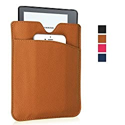 Kindle Oasis Sleeve Case - Pasonomi Premium PU Leather Pouch Cover Case for Kindle Oasis, Kindle Paperwhite, Kindle Voyage (Brown)