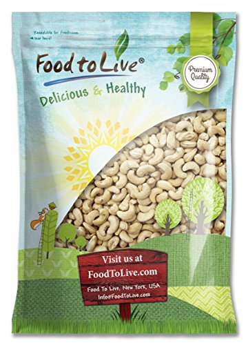 Food To Live Raw Cashew Nuts (Whole, Size W-240, Unsalted, Bulk) (12 Pounds) (Thai Lime Chili Cashews compare prices)