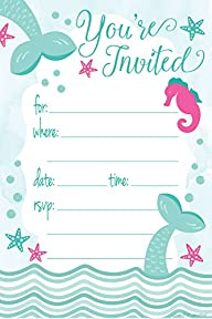 Mermaid Birthday Party Invitations -…