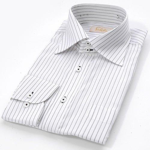 FALCHI NEW YORK(ファルチ ニューヨーク) ファルチ ニューヨークFalchi F-W BK #17ワイシャツ Falchi New York ワイシャツ本 体:ホワイト/ブラック系 ステッチ:ブラック(F-W BK-17) L(41-86)