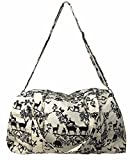Overnighter Large Travel Duffle Bag and Crossbody Purse Set, Forest Animals