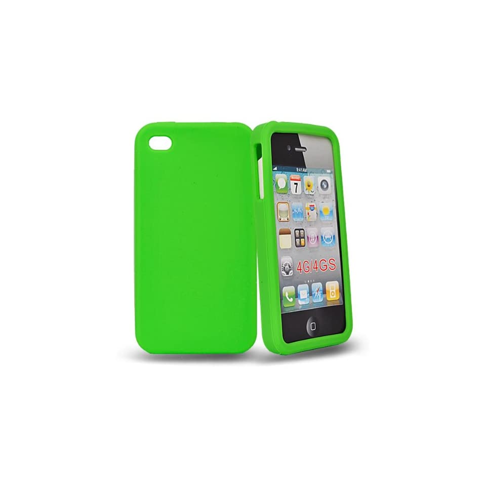 Mobile Palace  Green silicone case cover for apple iphone 4s