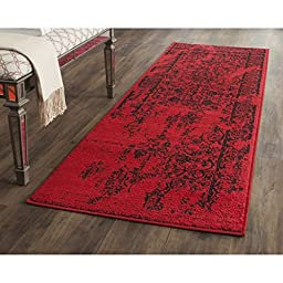 Safavieh Adirondack Collection ADR101F Red and Black Runner, 2 feet 6 inches by 6 feet (2\'6\