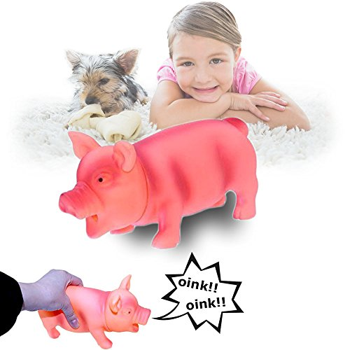 Dazzling Toys Pig Toy with Real Squeak, Pink
