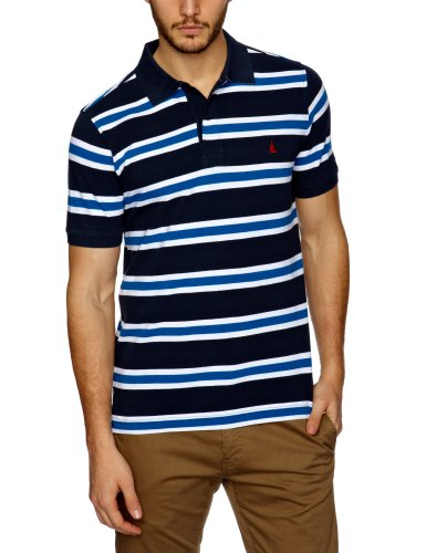 Musto Dock Yarn Dyed Stripe Polo Men's Tops Navy Small