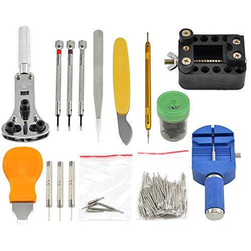 trixes 144 pi ces pour r paration r glage de montre bracelet kit d outils pour changement de. Black Bedroom Furniture Sets. Home Design Ideas
