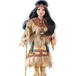 Hania Native American Collectible Porcelain Doll