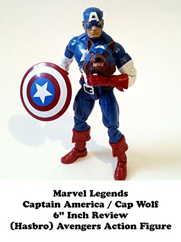 "Marvel Legends CAPTAIN AMERICA / CAP WOLF 6"" inch Review (Onslaught BAF) Avengers toy action figure"