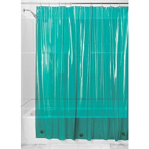 InterDesign Vinyl 4.8-Gauge Shower Liner, 72 by 72-Inch, Deep Teal (Shower Liner Green compare prices)