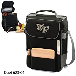 Wake Forest Demon Deacons Duet Insulated Wine and Cheese Tote - Black w/Digital Print