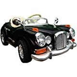 2013 NEW DESIGN CLASSIC VINTAGE MERCEDES STYLE 12V TWIN MOTORS KIDS RIDE ON CAR WITH 4 WYAS PARENTAL REMOTE CONTROL ,PINK AND BLACK + mp3 input + digital battery capacity timer + leather seat pad