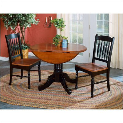 Buy Low Price A-America Bundle-11 British Isles Drop Leaf Table in Oak and Black (B005215VH4)